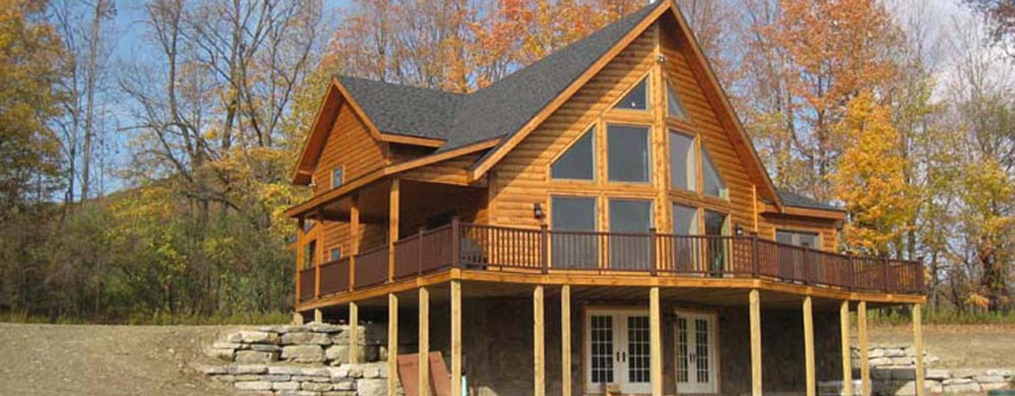 Salman Log Home Vermont